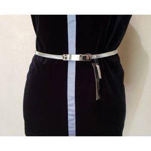 Style & Co. Silver Metal Belt